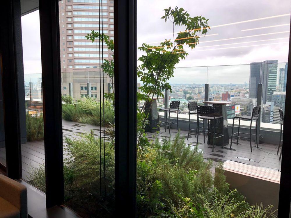 ビジネスエアポート渋谷フクラスのテラス席