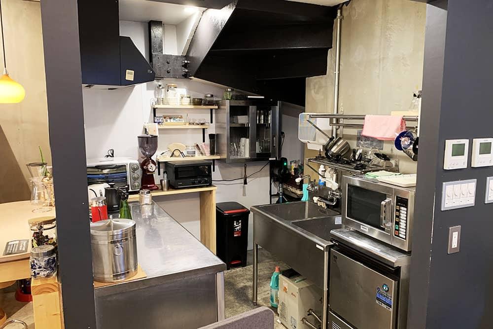 BASE POINTのキッチンスペース